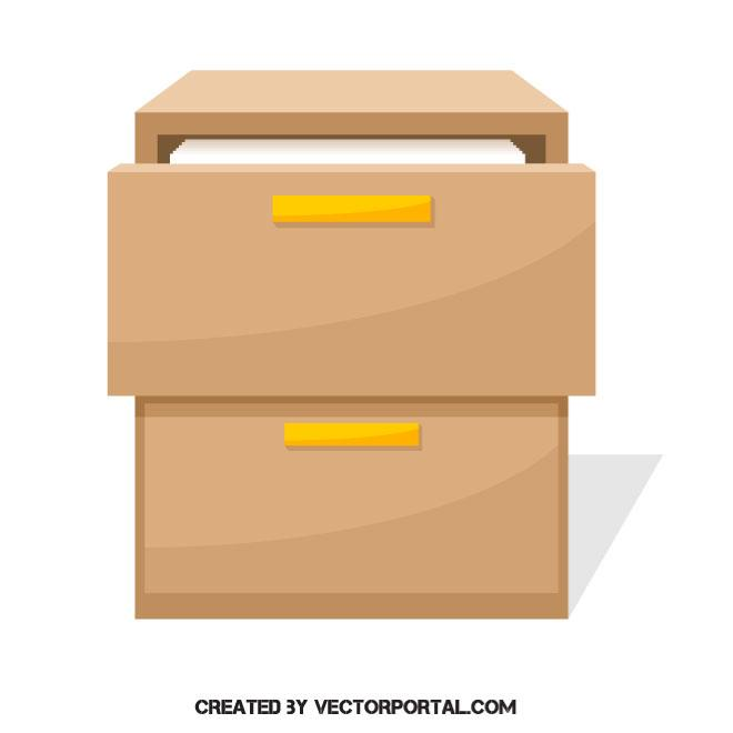 660x660 Filing Cabinet Vector Image