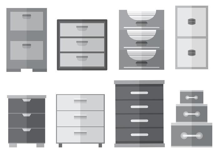 700x490 Free File Cabinet Icons Vector
