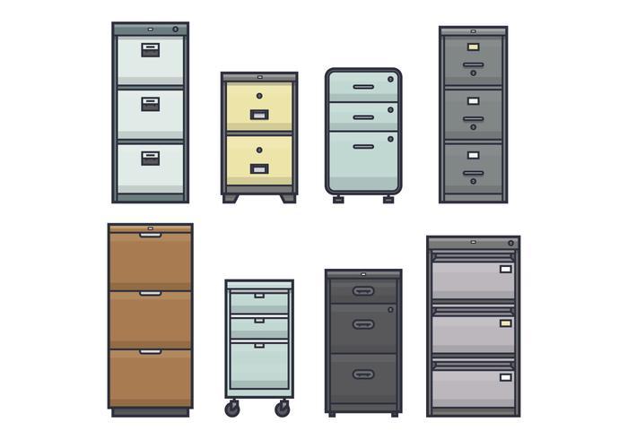 700x490 Office File Cabinet Vectors