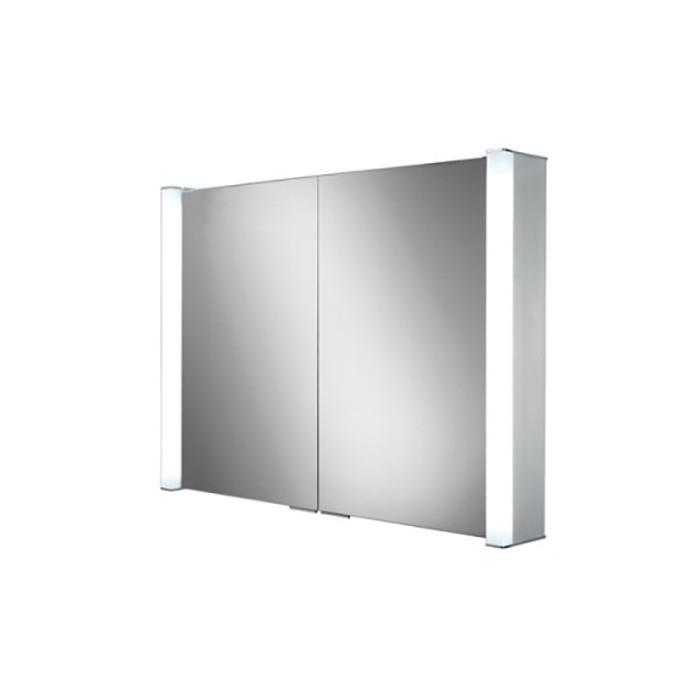 700x700 Vector Double Door Illuminated Aluminium Mirror Cabinet Mirror