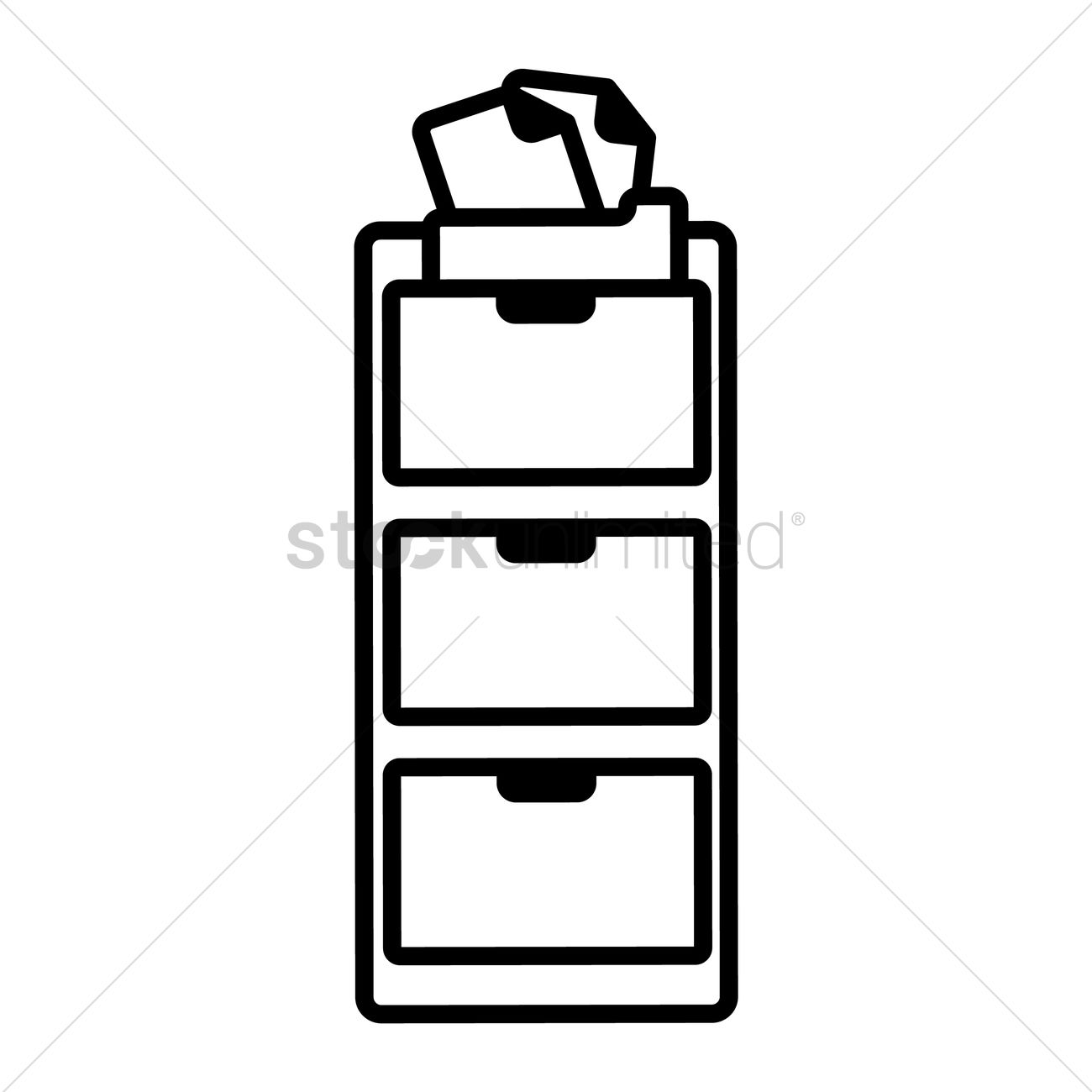1300x1300 Cabinet Vector Image