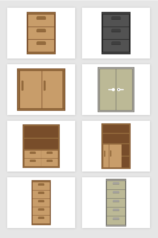 1024x1540 Cartoon Bookcase Safe Storage Cabinet Vector Graphic Free Download
