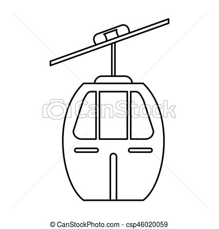 450x470 Cable Car Transport Image Vector Illustration Eps 10.