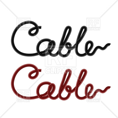 400x400 Cable Lettering On White Background Vector Image Vector Artwork