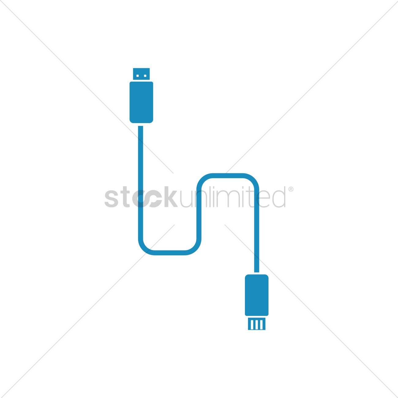 1300x1300 Data Cable Vector Image