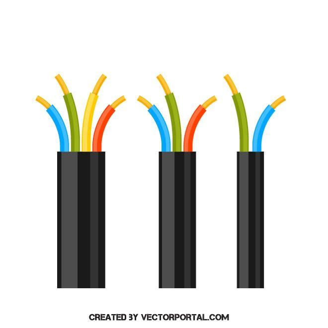 660x660 Electric Copper Cable Vector Image Various Vectors