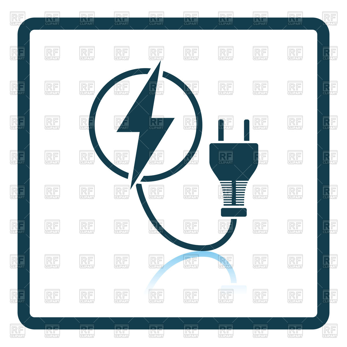 1200x1200 Electric Plug With Cable Icon Vector Image Vector Artwork Of