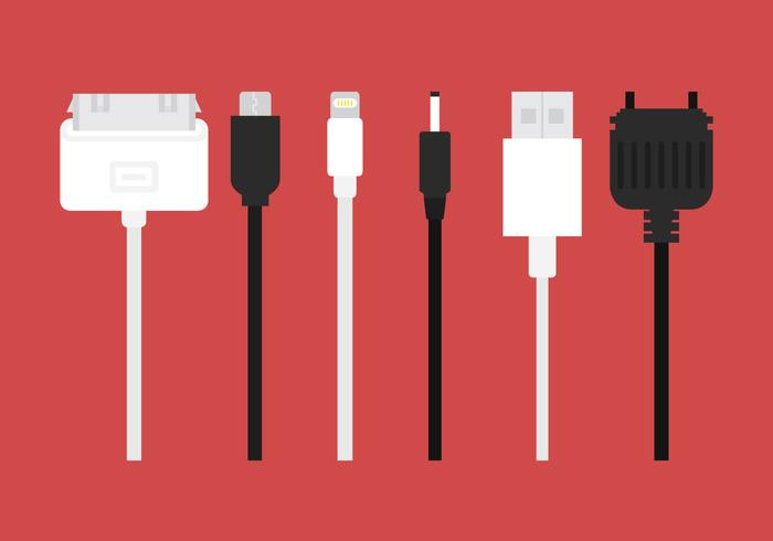 700x490 Phone Charger Vector Cables