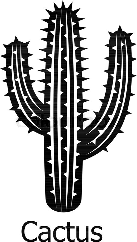 454x800 Cactus Icon. Simple Illustration Of Cactus Vector Icon For Web