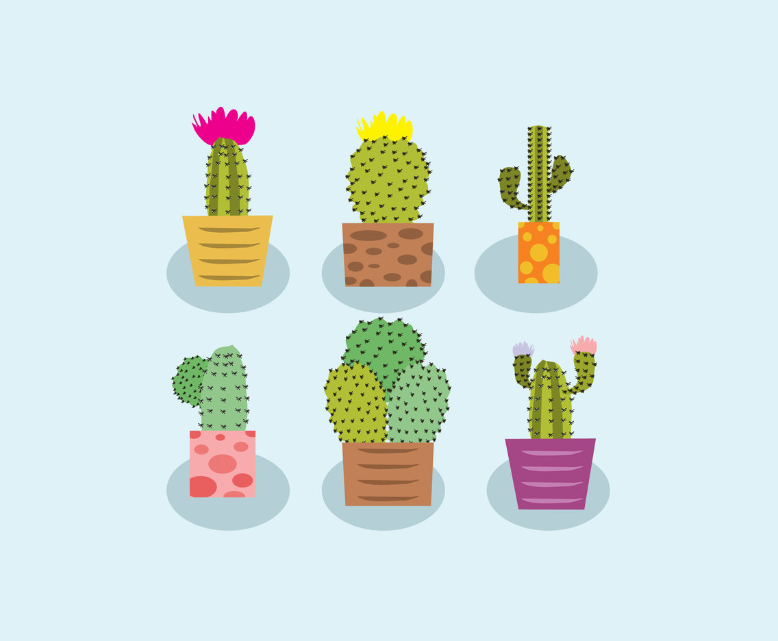 1136x936 Various Cactus Vector Vector Art Amp Graphics