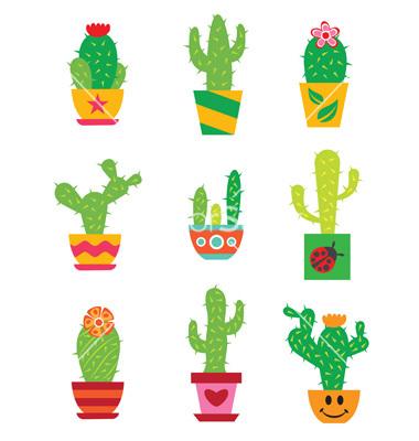 380x400 Cute Cactus Clipart