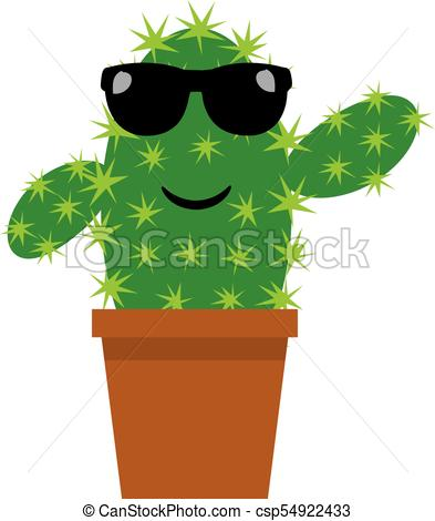 393x470 Funny Cactus. Vector Funny Cactus.