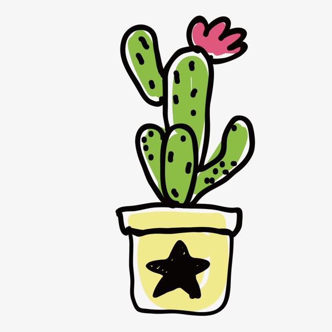 650x651 Hand Painted Cactus Vector Illustration, Cactus, Illustration