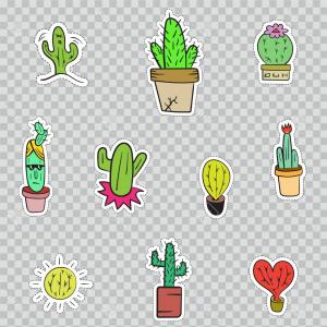 300x300 Photostock Vector Cactus With A Mexican Guitar White Background