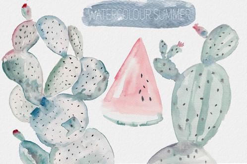 498x332 Watercolour Cactus Vectors, Clip Art Vectors Psd Files