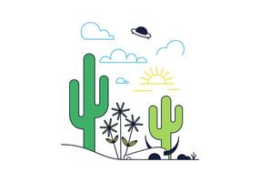286x200 Cactus Free Vector Art