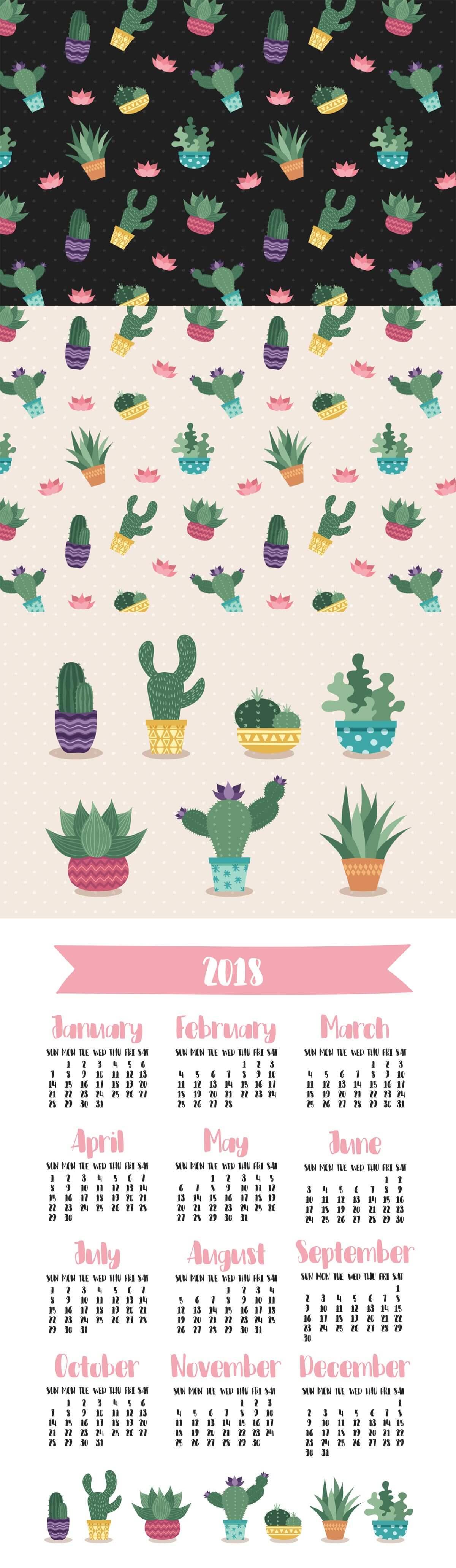 1200x4122 Free Cactus Vector Set