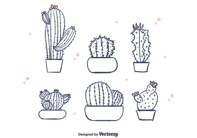 632x443 Free Hand Drawn Cactus Vector Free Vector Download 376343 Cannypic
