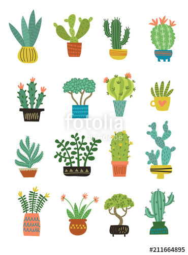 370x500 Cactus Vector Pattern Stock Image And Royalty Free Vector Files
