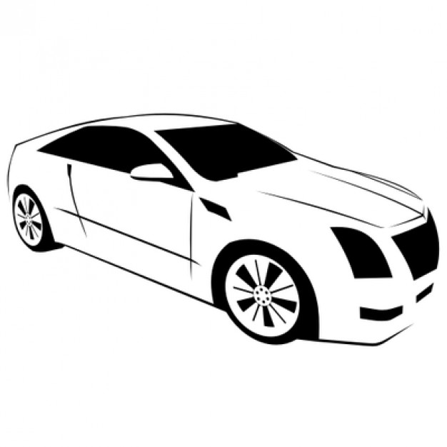 626x626 Luxurious Cadillac Car Illustration Vector Free Download