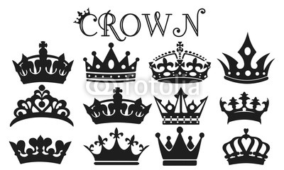 400x240 Crown Silhouette Set Vector Buy Photos Ap Images Detailview