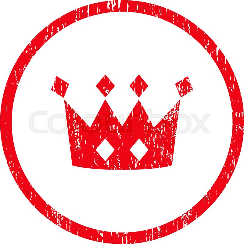 800x800 Crown Grainy Textured Icon For Overlay Watermark Stamps. Rounded