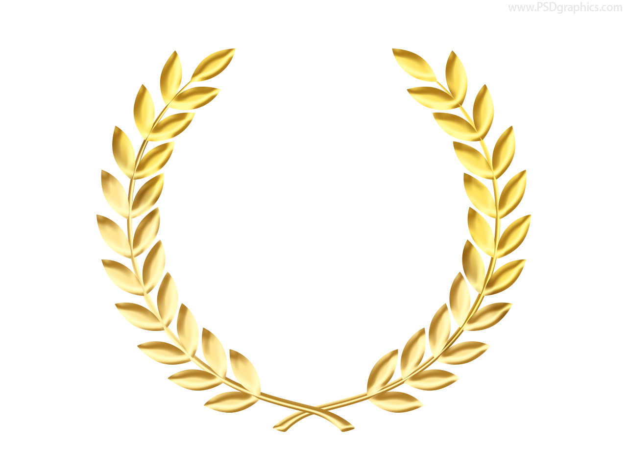 1280x960 Golden Laurel Crown Clipart