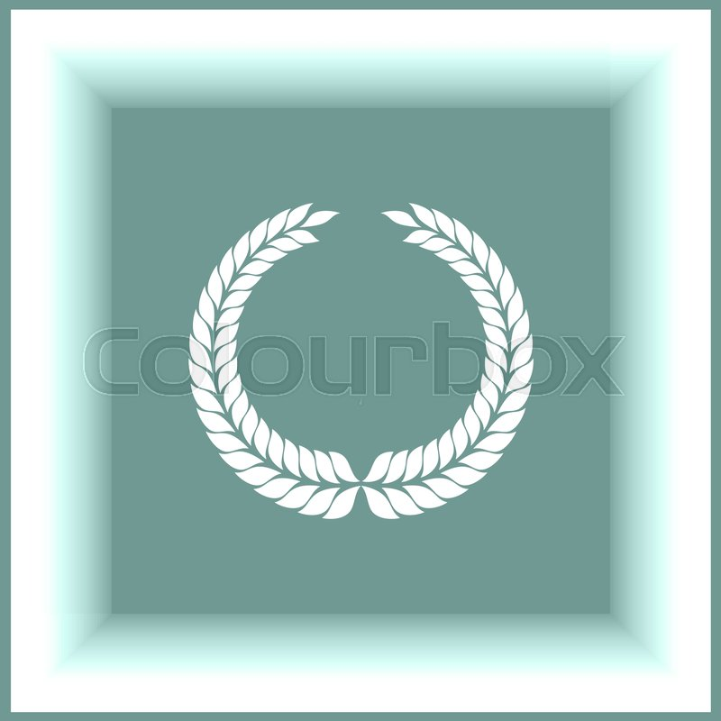 800x800 Laurel Wreath Vector Icon. Caesar Sign. Rome Symbol Stock Vector