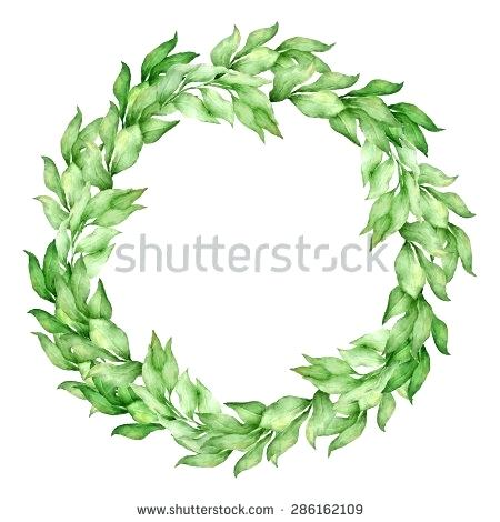 450x470 Template Olive Leaf Wreath Template Crown Download Stock Vector