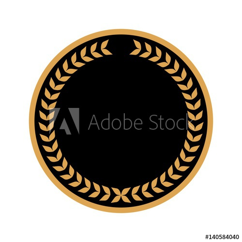 500x500 Caesar Crown Leaf Logo Vector