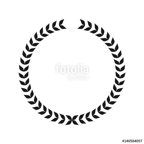 500x500 Caesar Crown Leaf Logo Vector Stock Image And Royalty Free Vector