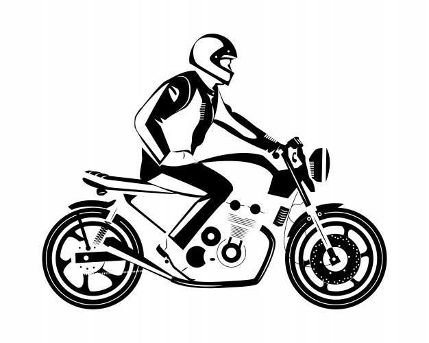 Cafe Racer Vector At Getdrawings Com