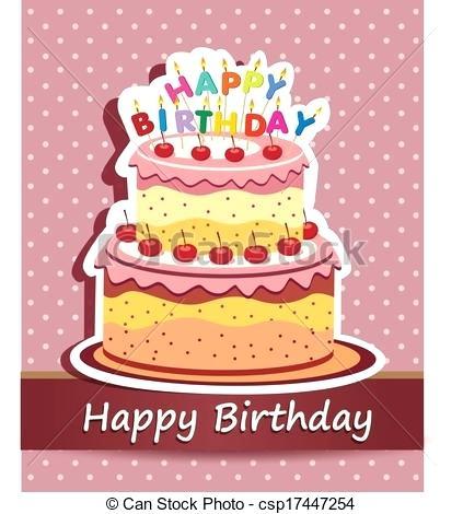423x470 Clip Art Happy Birthday Cake Happy Birthday Cake Cards Vector