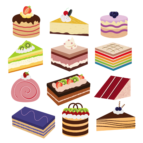 500x500 Different Cake Vector Material Free Download