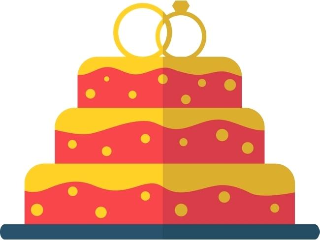 650x488 Birthday Cake Gold As Well As Red Cake Vector Red Gold Cake Three