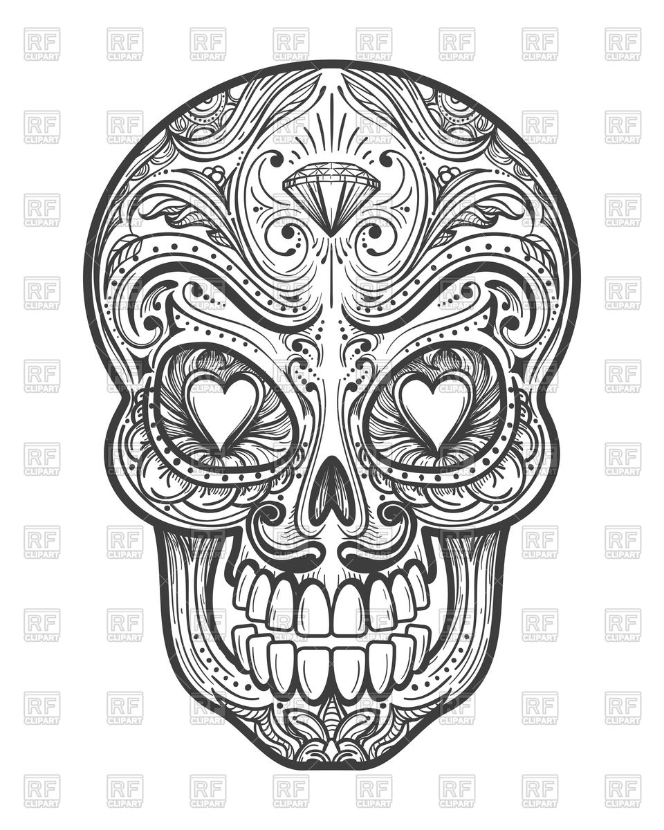 960x1200 Mexican Calavera Painting Skull Vector Image Vector Artwork Of