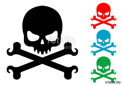 500x348 Pictograma Calavera Y Tibias En Varios Colores Stock Image And