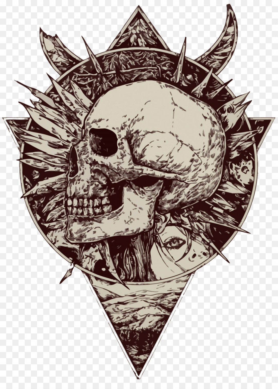 1080x1512 Png Calavera Illustration Vector Skeleton Geekchicpro