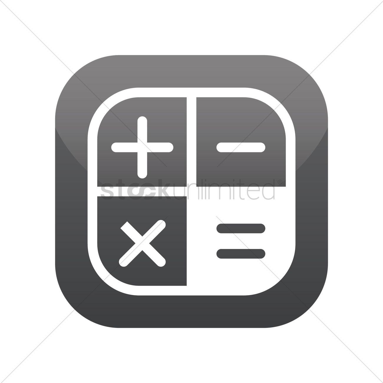 1300x1300 Calculator Icon Vector Image