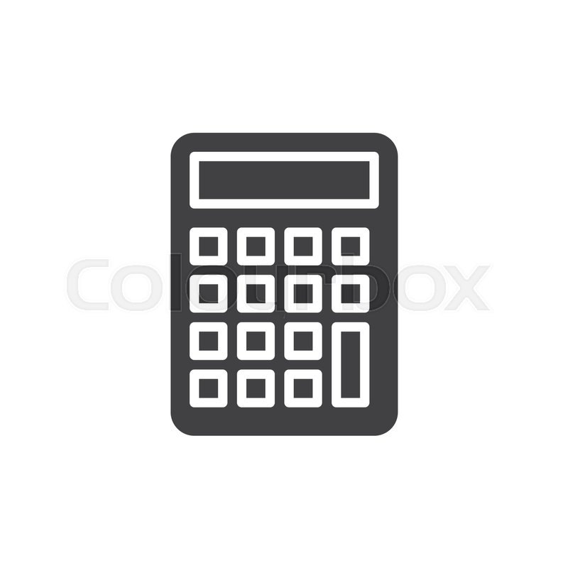 800x800 Calculator Icon Vector, Filled Flat Sign, Solid Pictogram Isolated