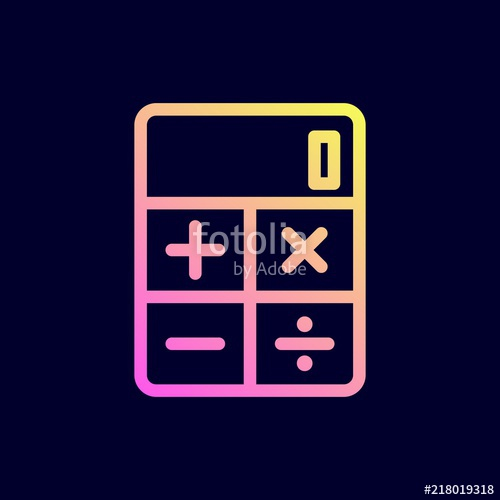 500x500 Calculator Icon. Vector Illustration. Stock Image And Royalty