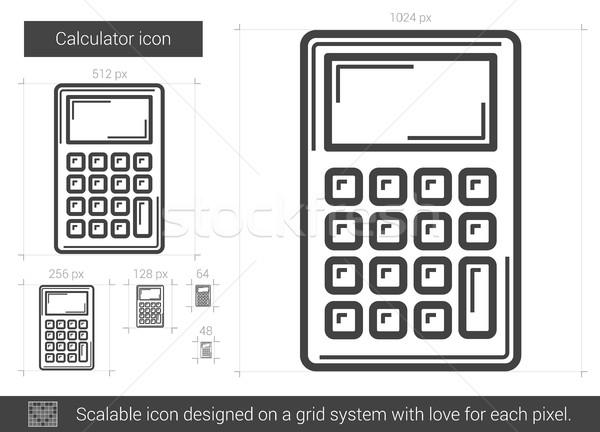 600x432 Calculator Line Icon. Vector Illustration Andrei Krauchuk