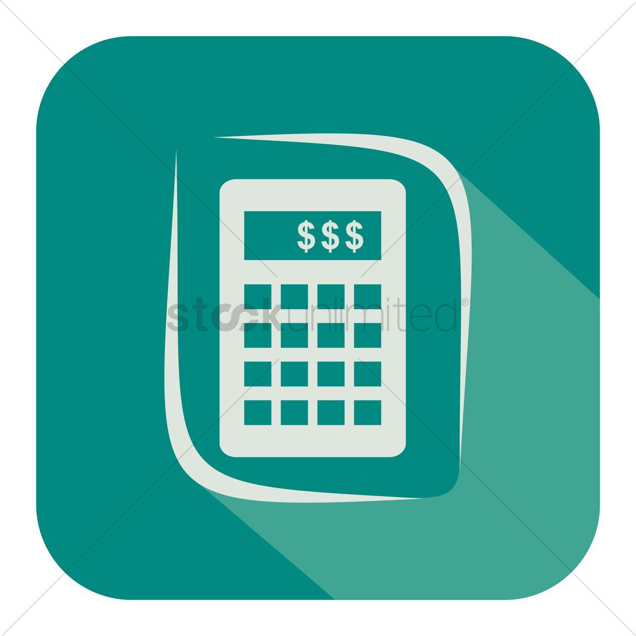 1300x1300 Free Calculator Icon Vector Image