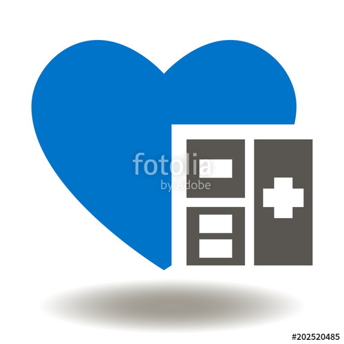 500x500 Heart Calculator Icon Vector. Medicine Accountant Savings