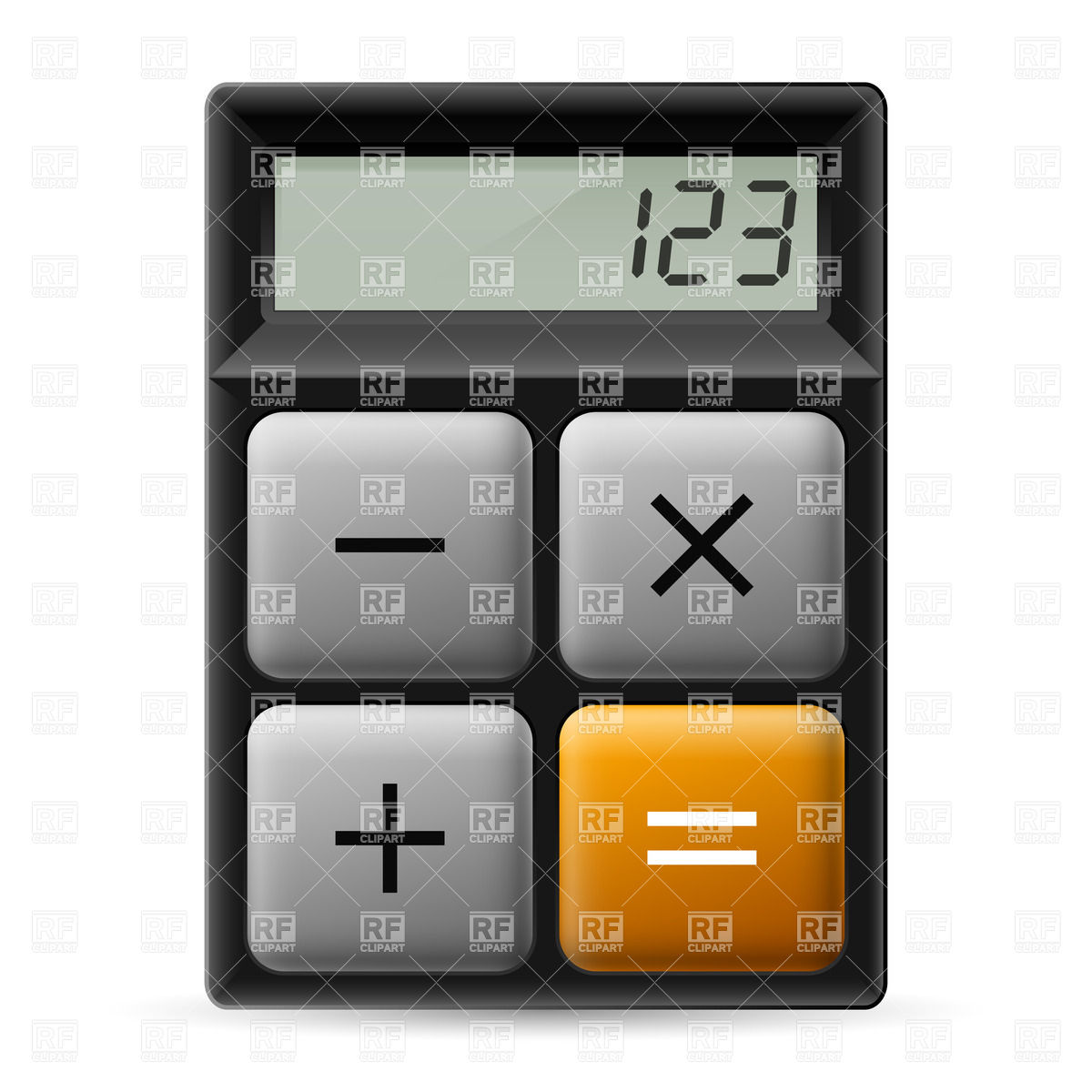 1200x1200 Simple Calculator Icon Vector Image Vector Artwork Of Icons And