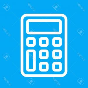 300x300 Calculator Icon Addition Multiplication Division Subtraction Sign