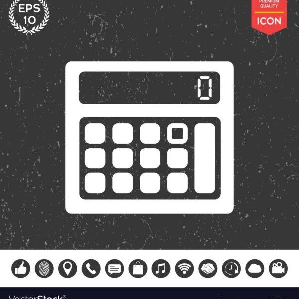 600x600 Calculator Icon Royalty Free Vector Image Vectorstock For
