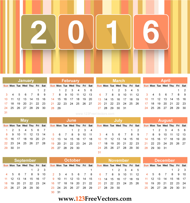 Calendar Template Vector At Getdrawings Com Free For