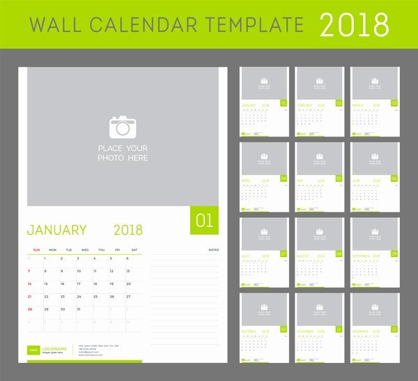 600x547 2018 calendar vector green calendar 2018 templates vector vector