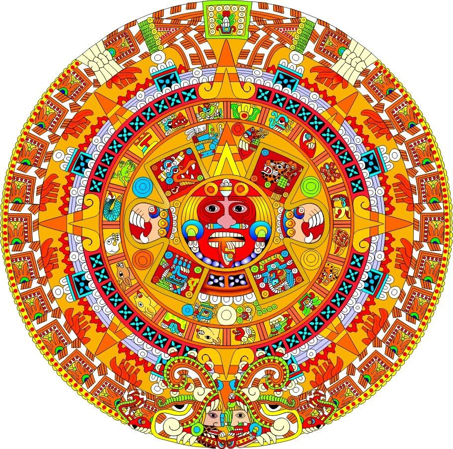 Calendario Azteca Vector